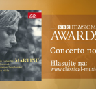 Ivo Kahánek's and Jakub Hrůša's CD has appeared in the nomination shortlist for the highly coveted BBC Music Magazine Awards